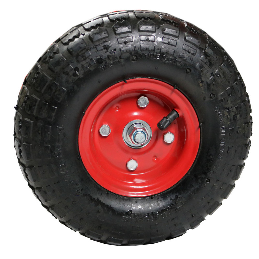 Tire with Dark Red Rim