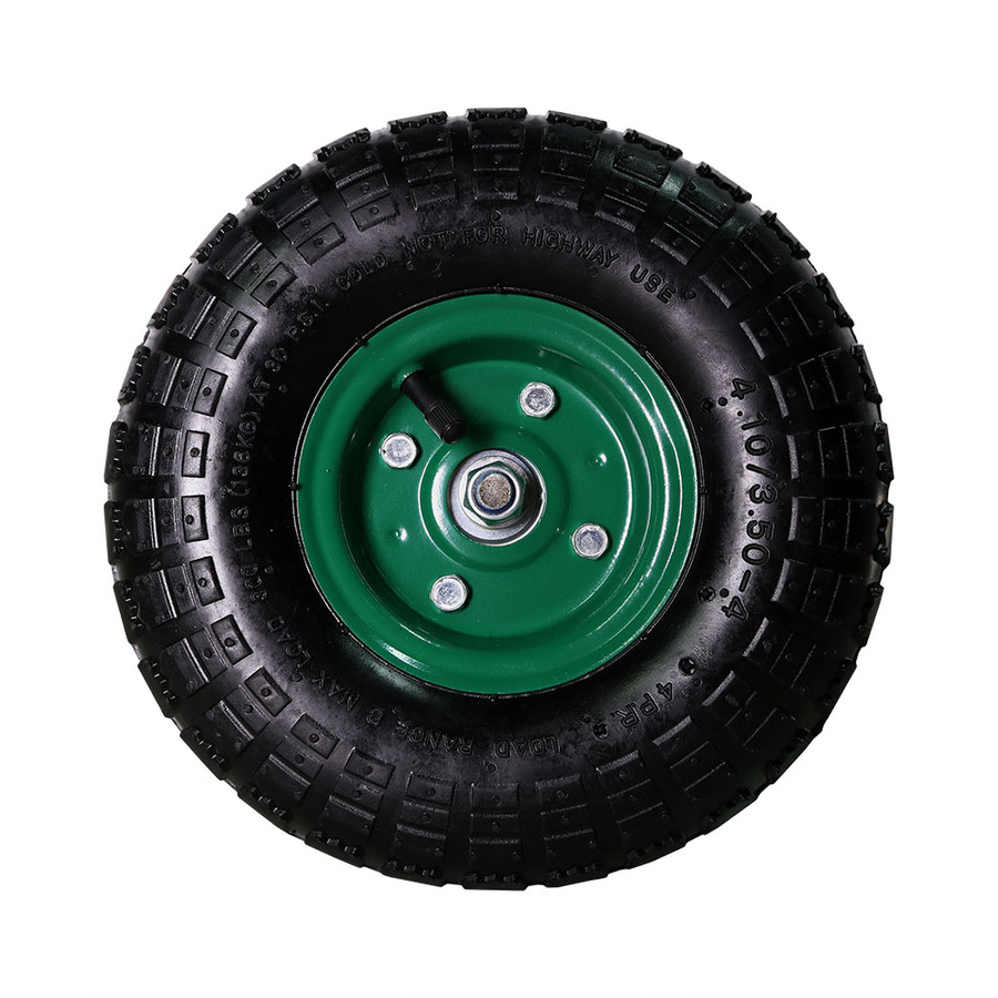 Green Pneumatic Wheel