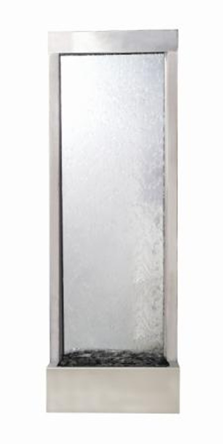 4' Stainless Steel Gardenfall With Clear Glass
