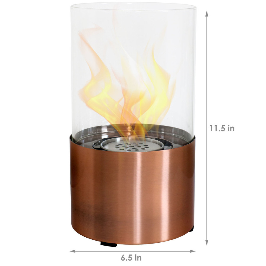 Dimensions of Copper Tabletop Fireplace