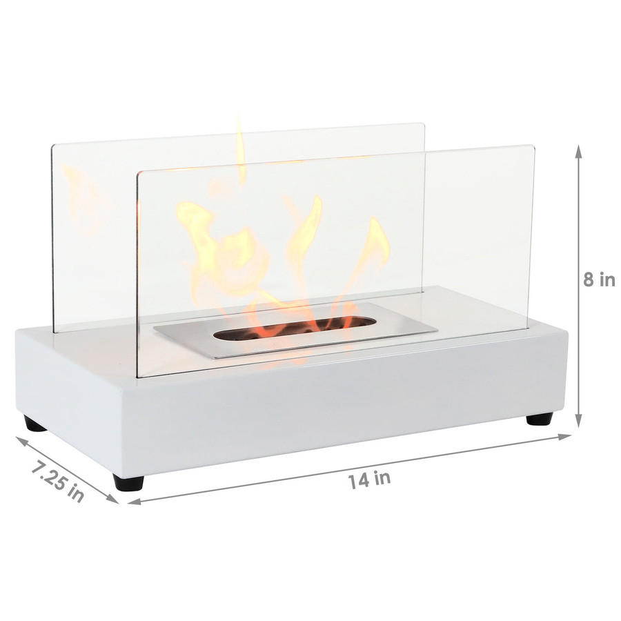 Dimensions of White Fireplace