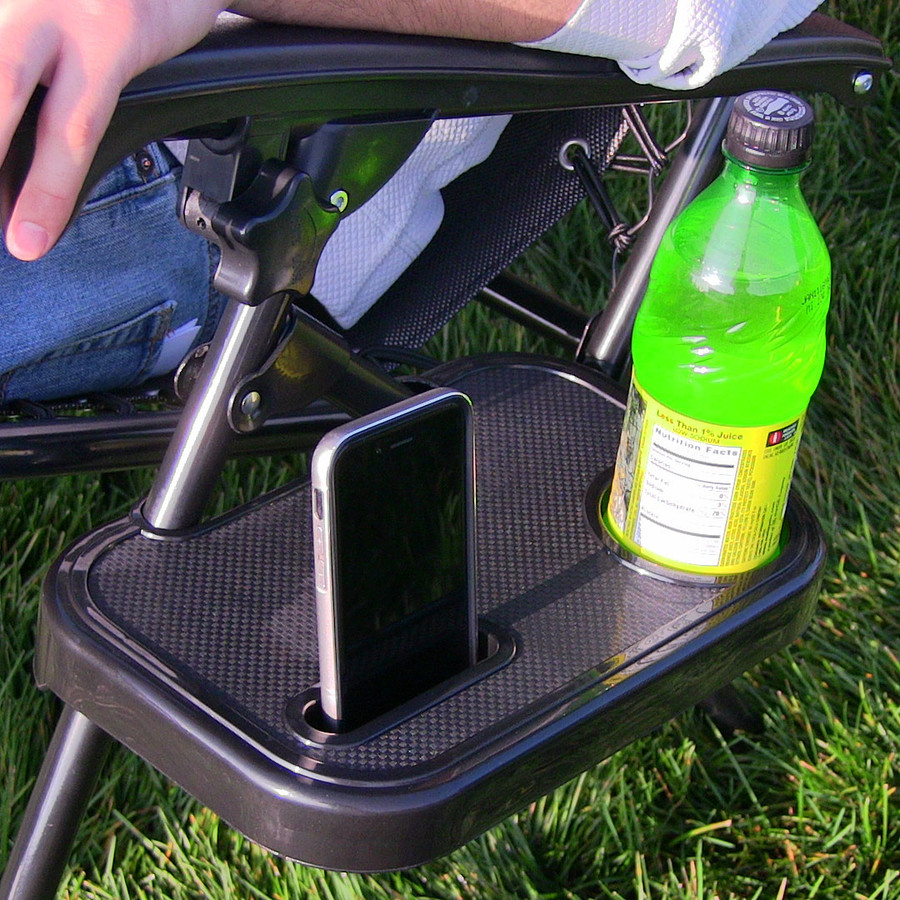 Sunnydaze Universal Rectangular Zero Gravity Chair Cup Holder with Mobile Device Slot and Snack Tray