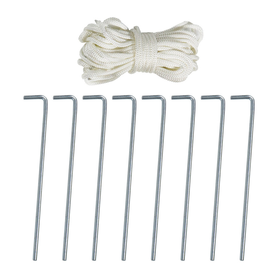 Sunnydaze Stake and Rope Set for Canopies, Tents and Tarps
