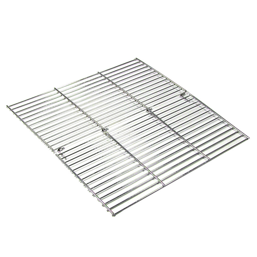 Sunnydaze Square Foldable Chrome Plated Cooking Grate