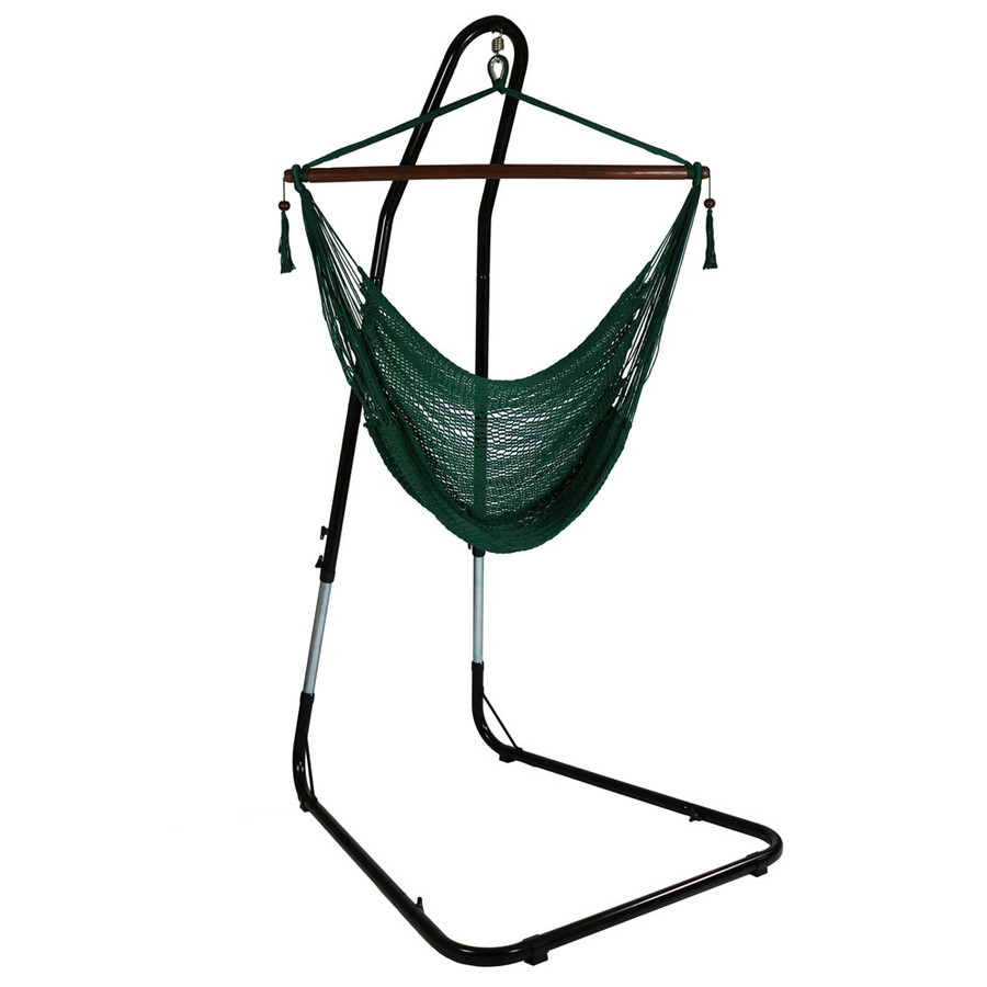 Green Hammock Chair on Stand