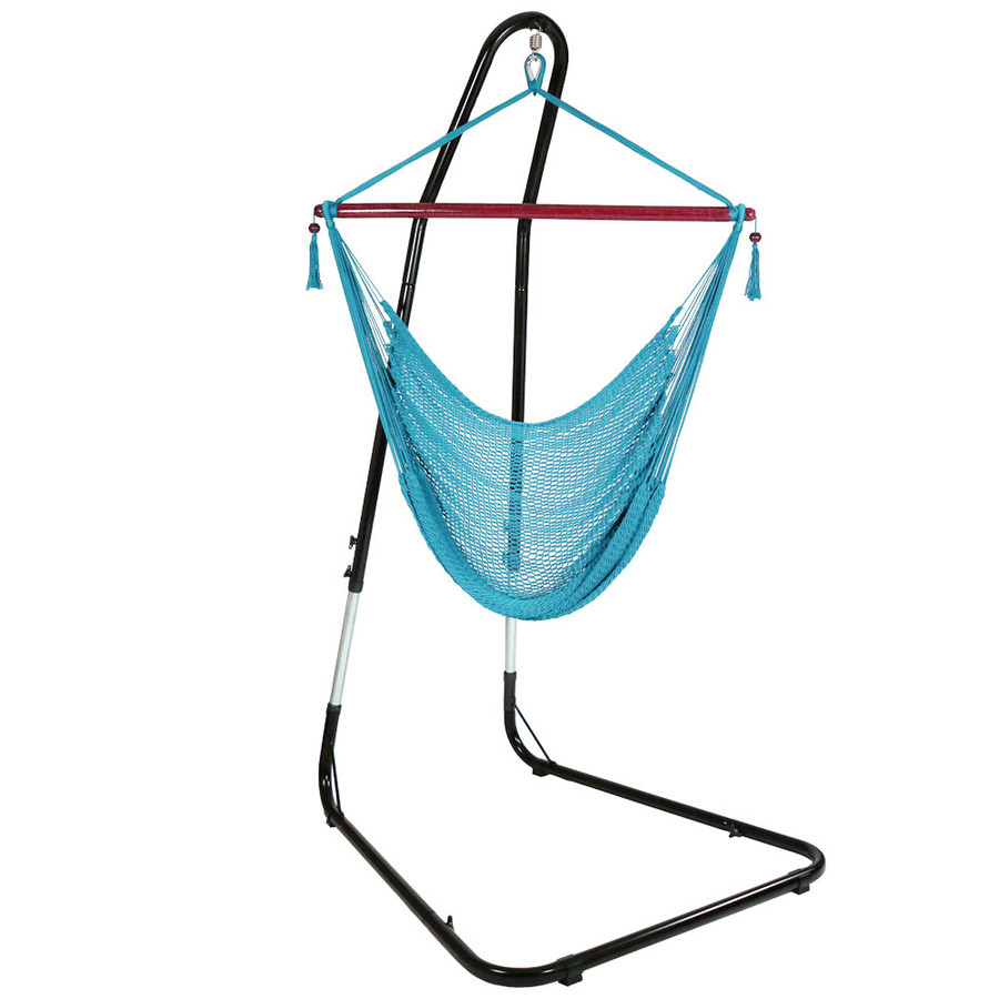 Sky Blue Hammock Chair on Stand