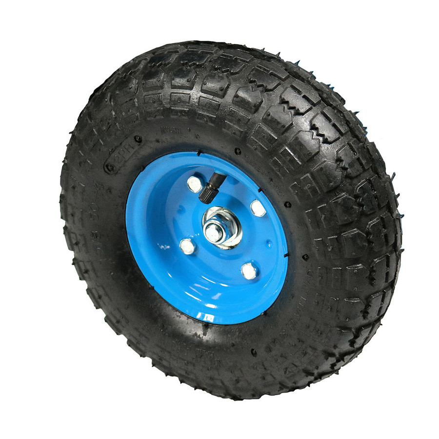 Tire with Blue Rim