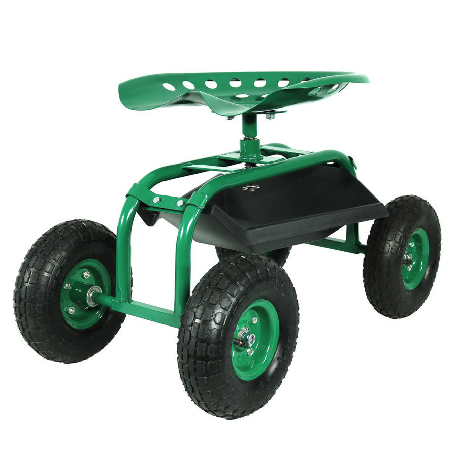 Green Rolling Cart