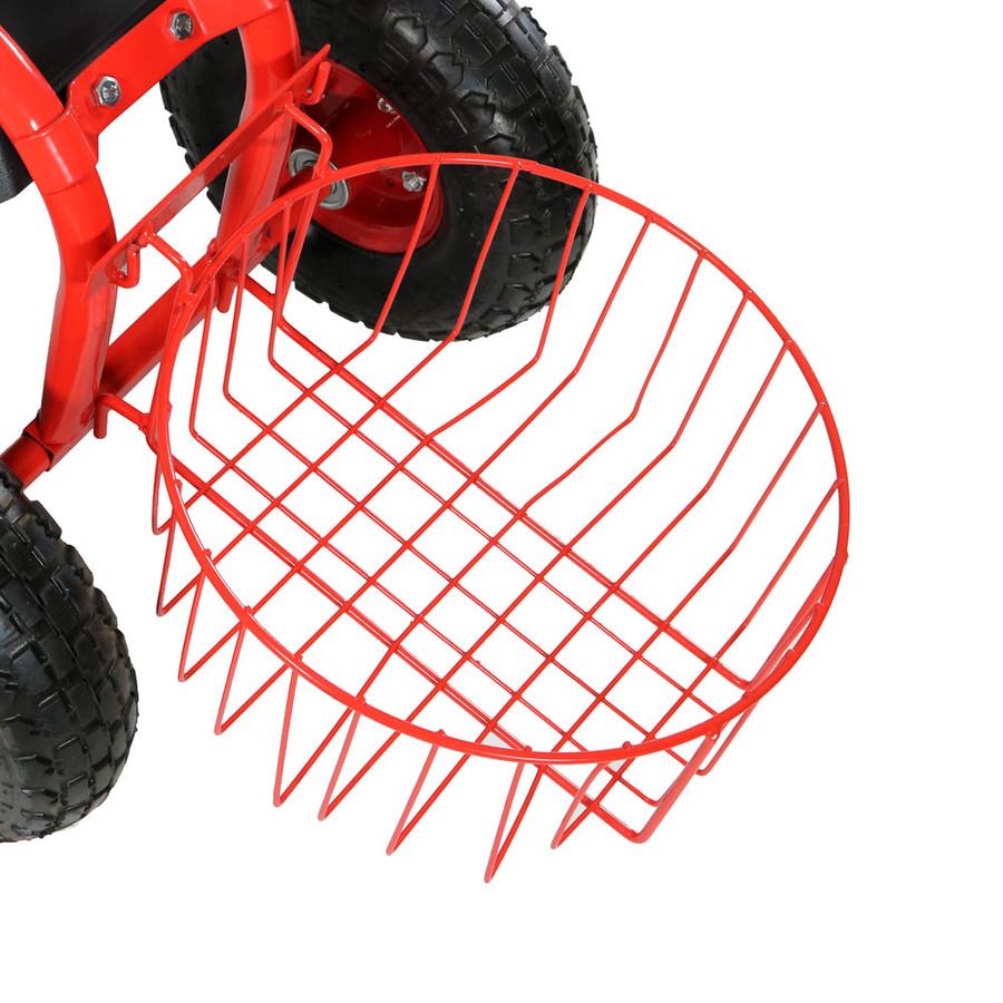 Red Round Planter Basket