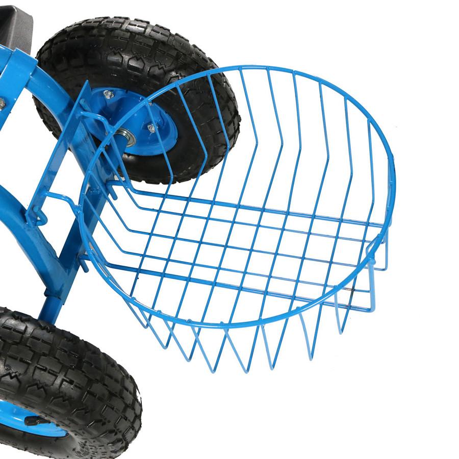 Blue Round Planter Basket