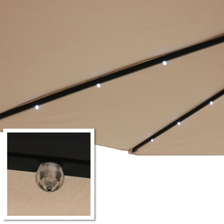 Beige LED Light Close-Up