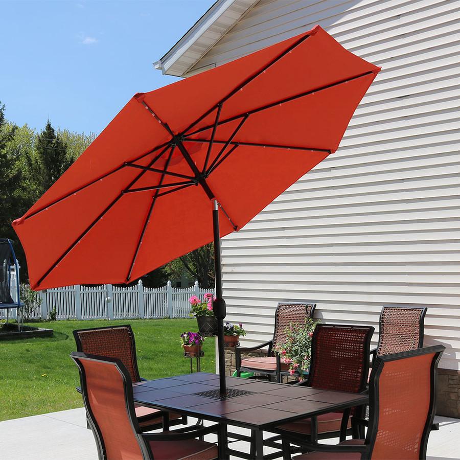 Burnt Orange Tilted Outdoors