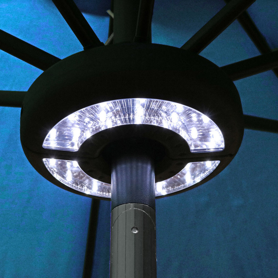 Sunnydaze 2-Panel Patio Umbrella LED Light