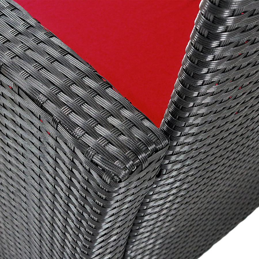 Red Wicker Detail