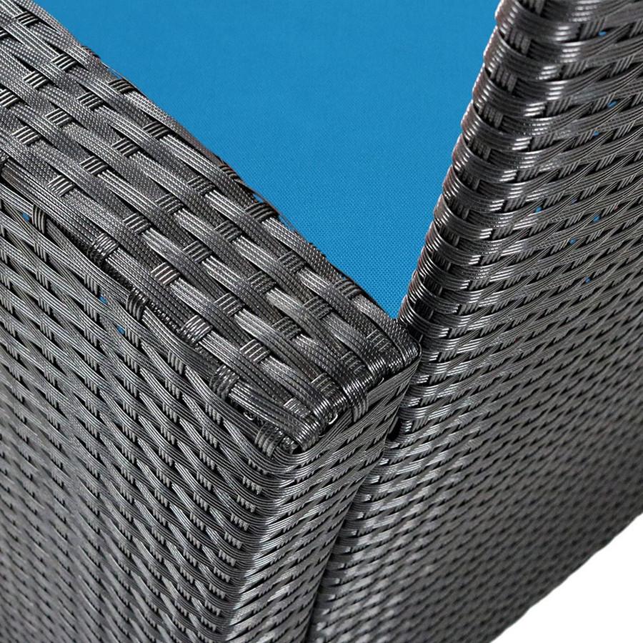 Blue Wicker Detail