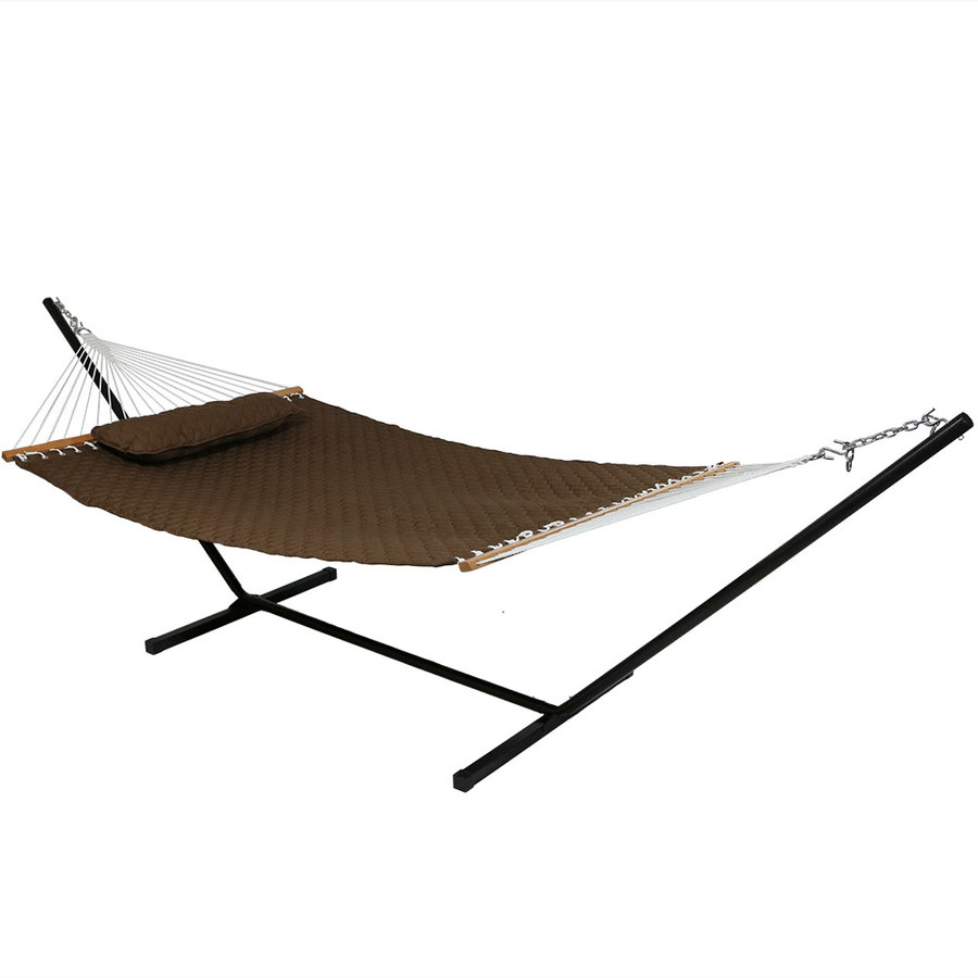 Brown Hammock on Stand
