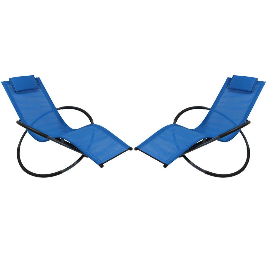 Sunnydaze Orbital Folding Zero Gravity Lounger w/ Pillow