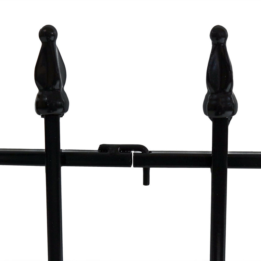 Sunnydaze 5 Piece Roman Border Fence Set, 9 Overall Feet
