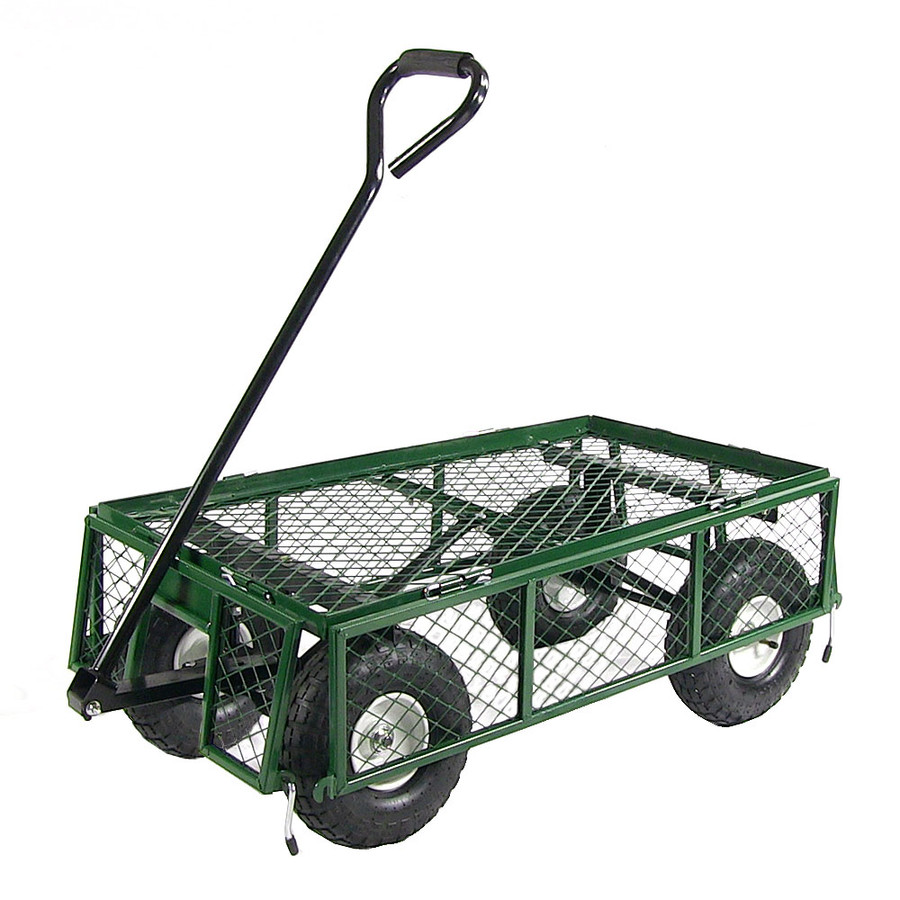 Green Cart with All Sides Folded Down
