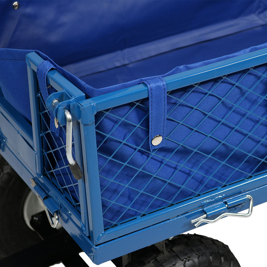 Blue Cart and Liner Closeup