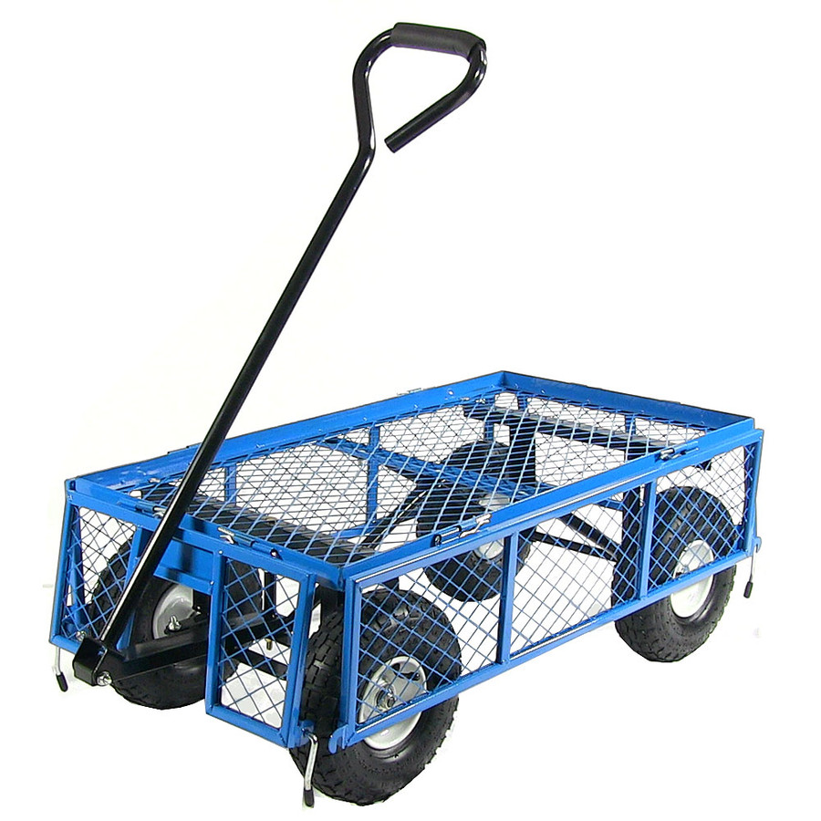 Blue Cart with All Sides Folded Down
