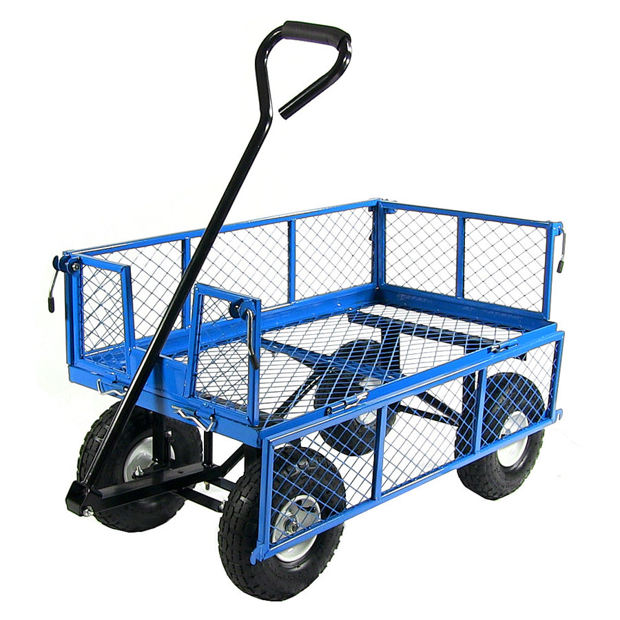 Blue Cart with One Side Folded Down