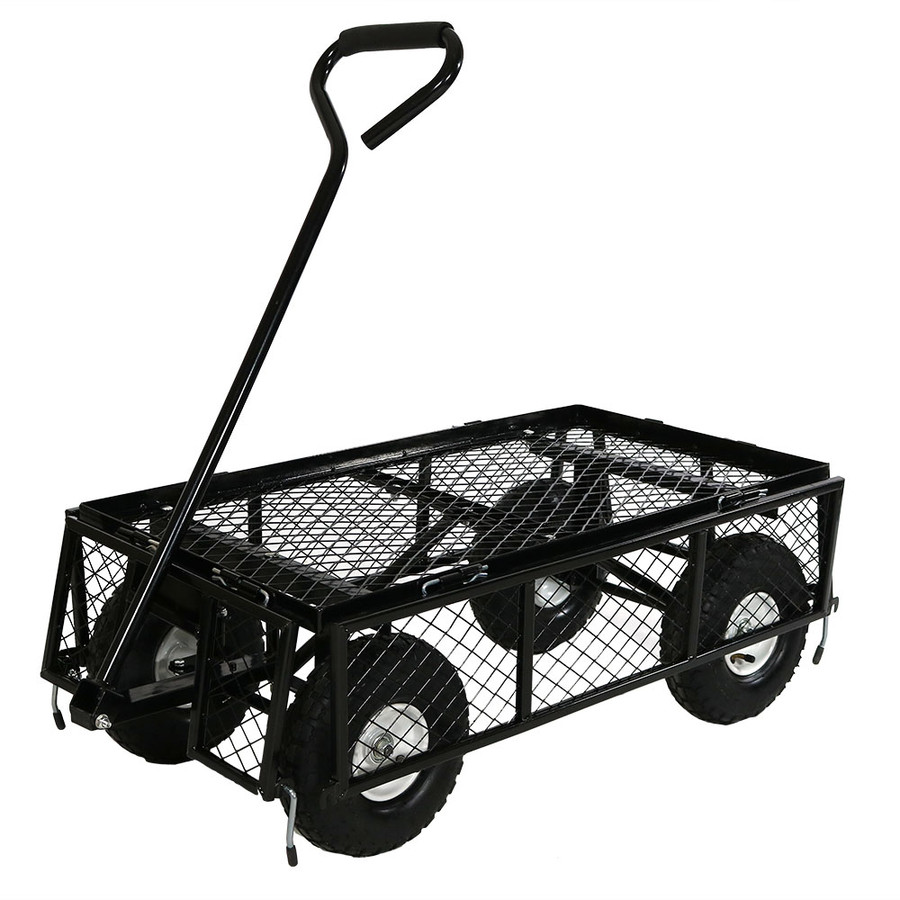 Black Cart with All Sides Folded Down