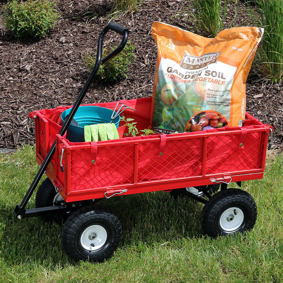 Red Cart and Liner Outdoor