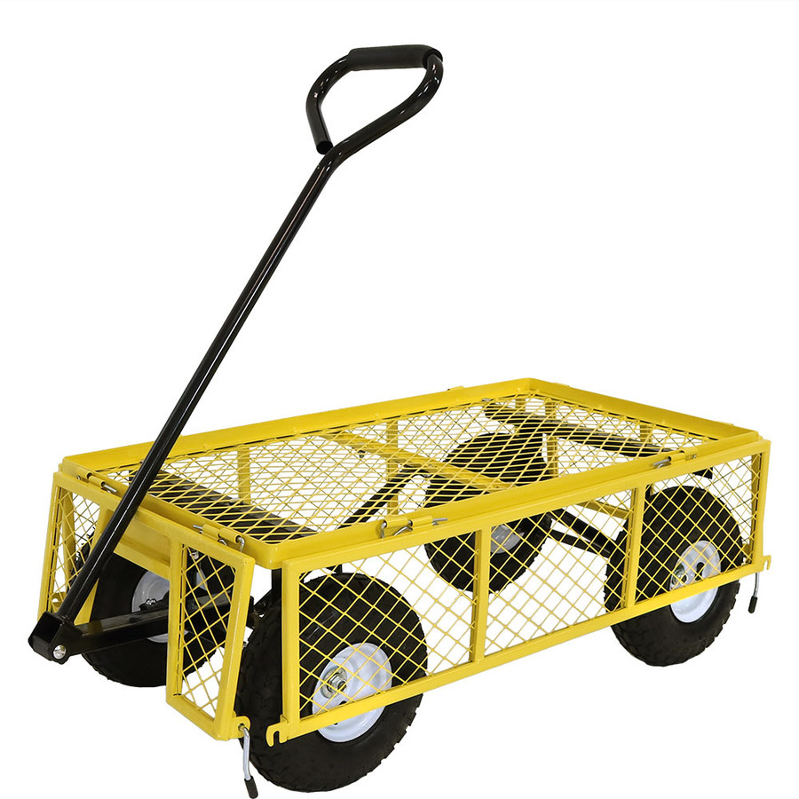 Yellow Cart with All Sides Folded Down