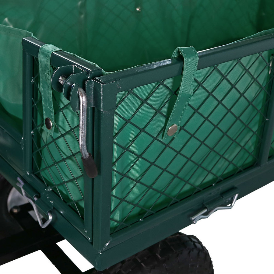 Green Cart and Liner Closeup
