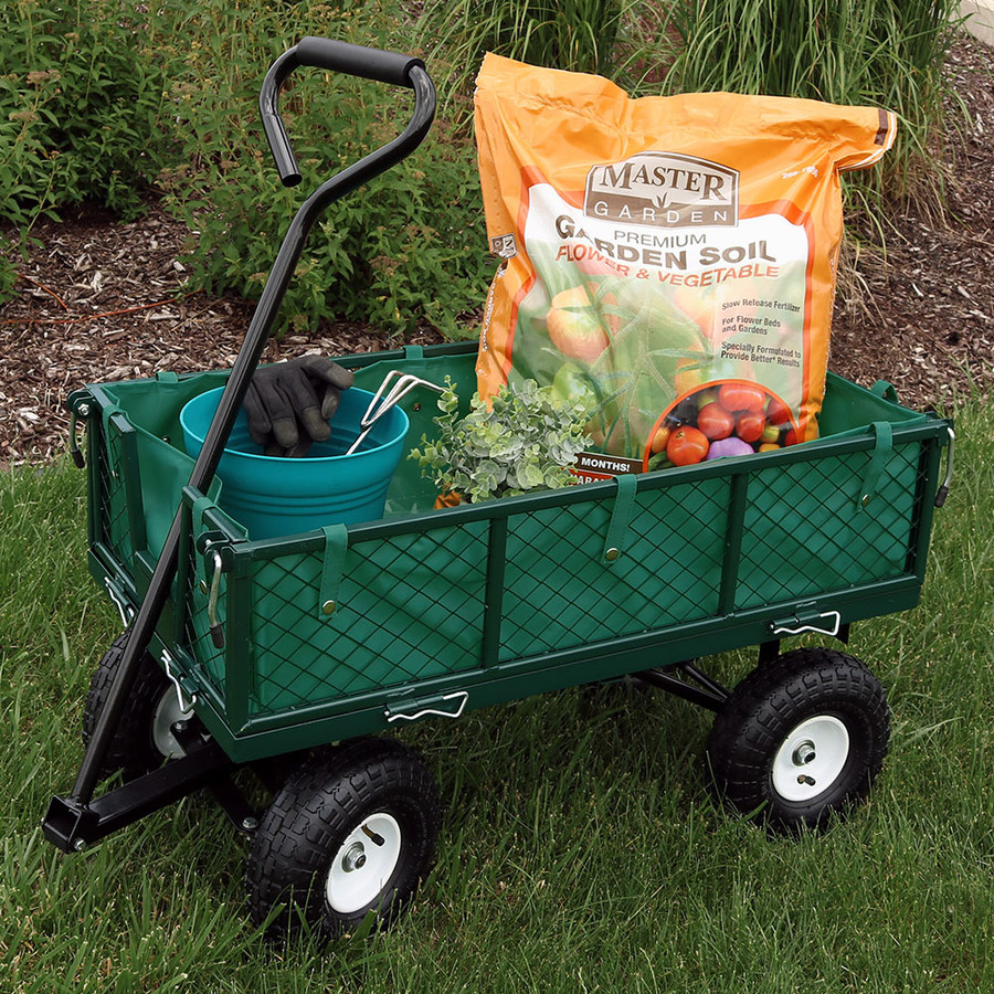 Green Cart with Liner Outdoor