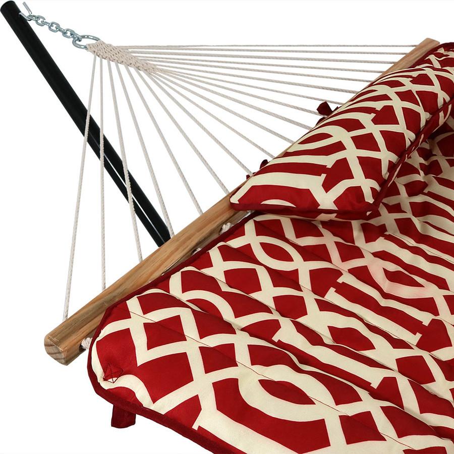Royal Red Pillow Closeup