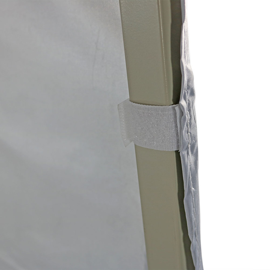 Sidewall attached to leg of canopy