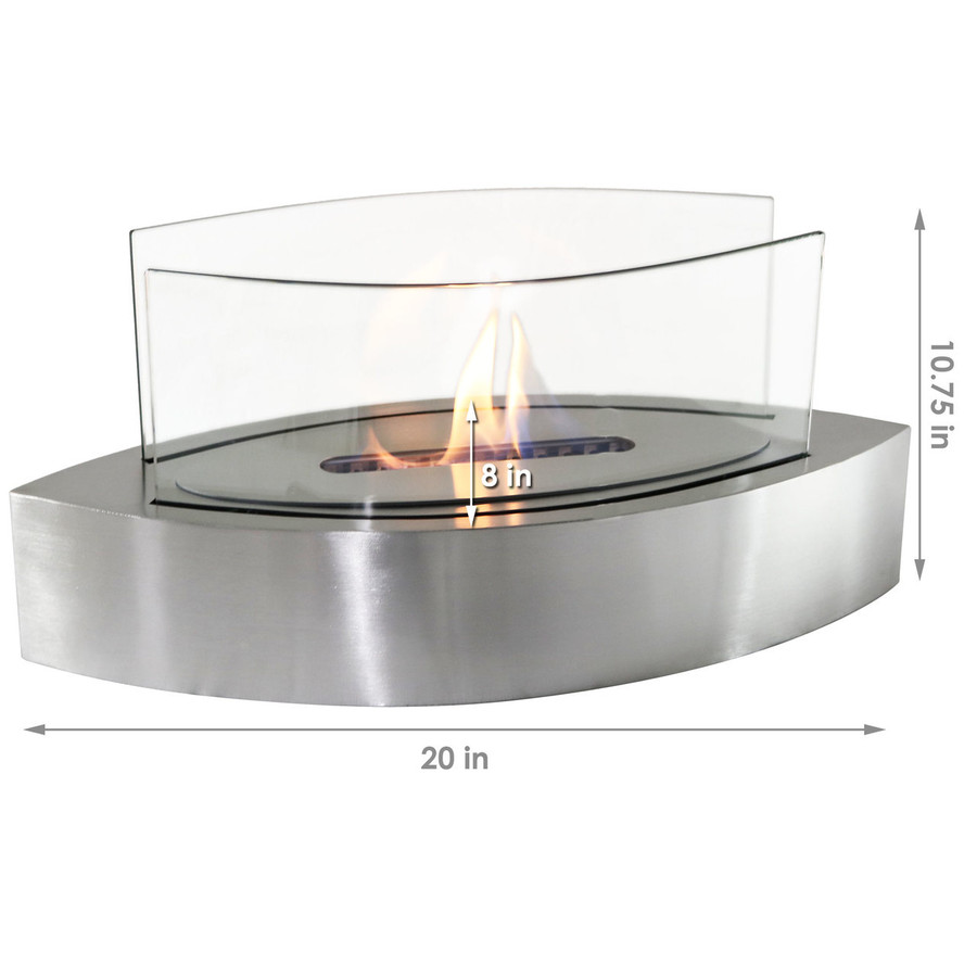 Dimensions of Stainless Steel Fireplace
