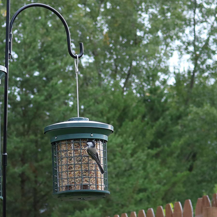 Sunnydaze Green Triple Tube Wild Bird Feeder
