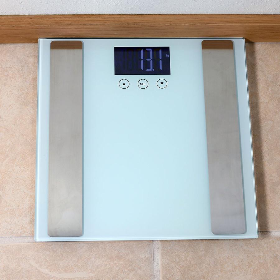 White Bathroom Scale