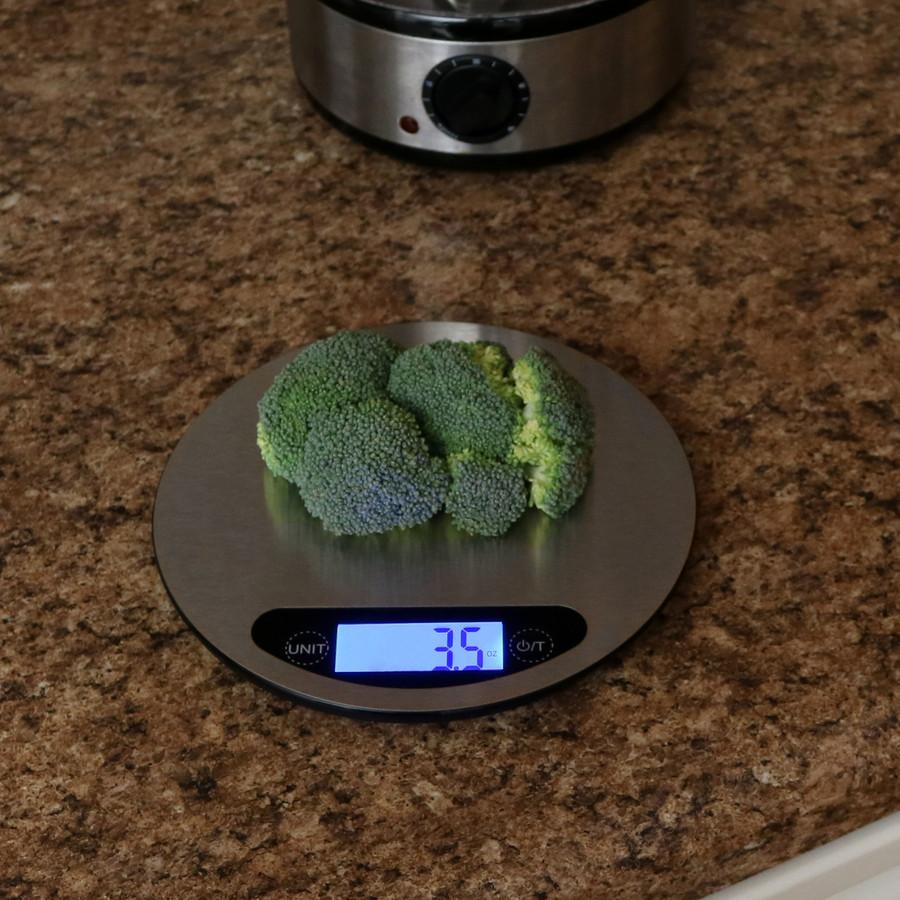 Round Digital Food Kitchen Scale