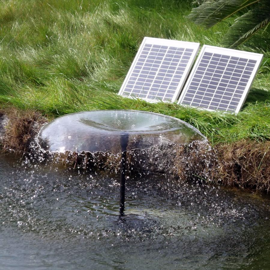 Sunnydaze Solar Pump and Solar Panel Kit With 2 Spray Heads, 120-Inch Lift, 396 GPH