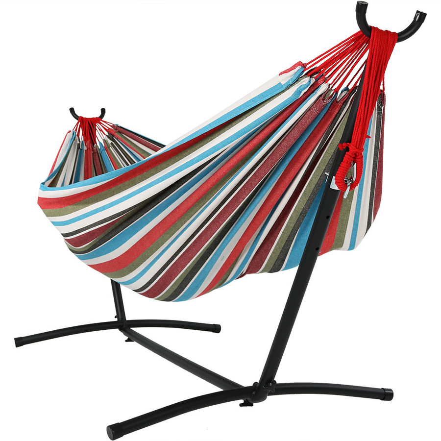 Cool Breeze Hammock on Stand