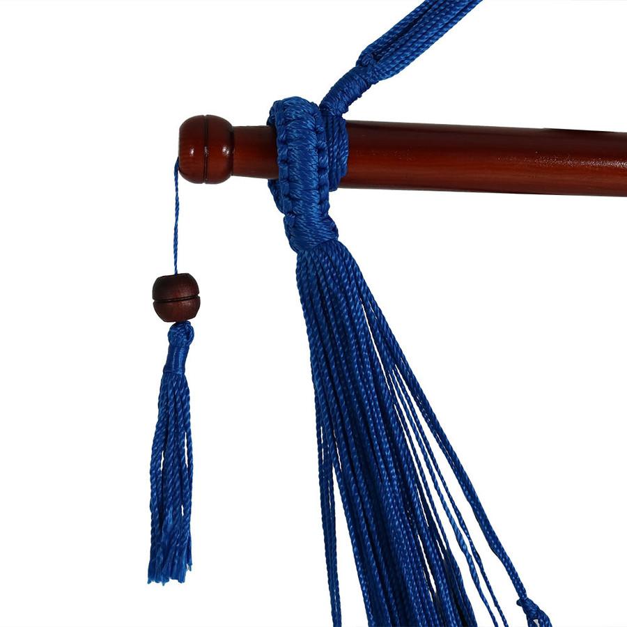 Blue Spreader Bar/Tassel Closeup