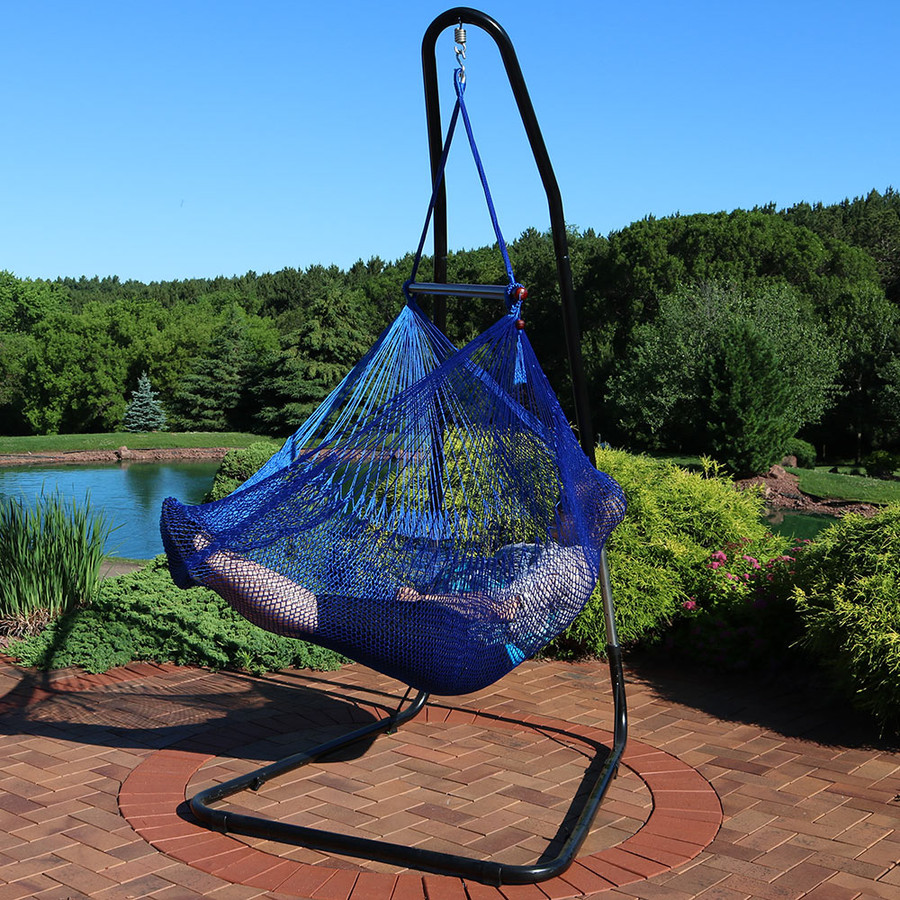 Blue Chair with Stand Outdoors