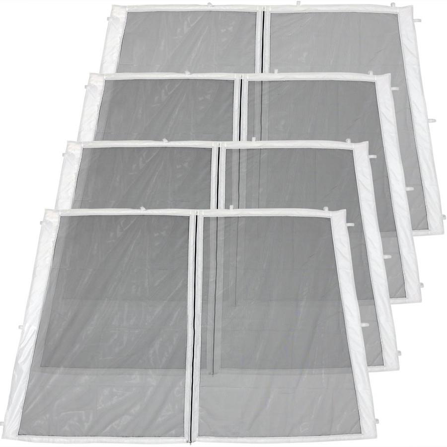 4-Panel-8 Foot Slant Leg Zippered Mesh Kit