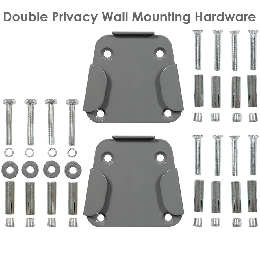 Double Privacy Wall Hardware