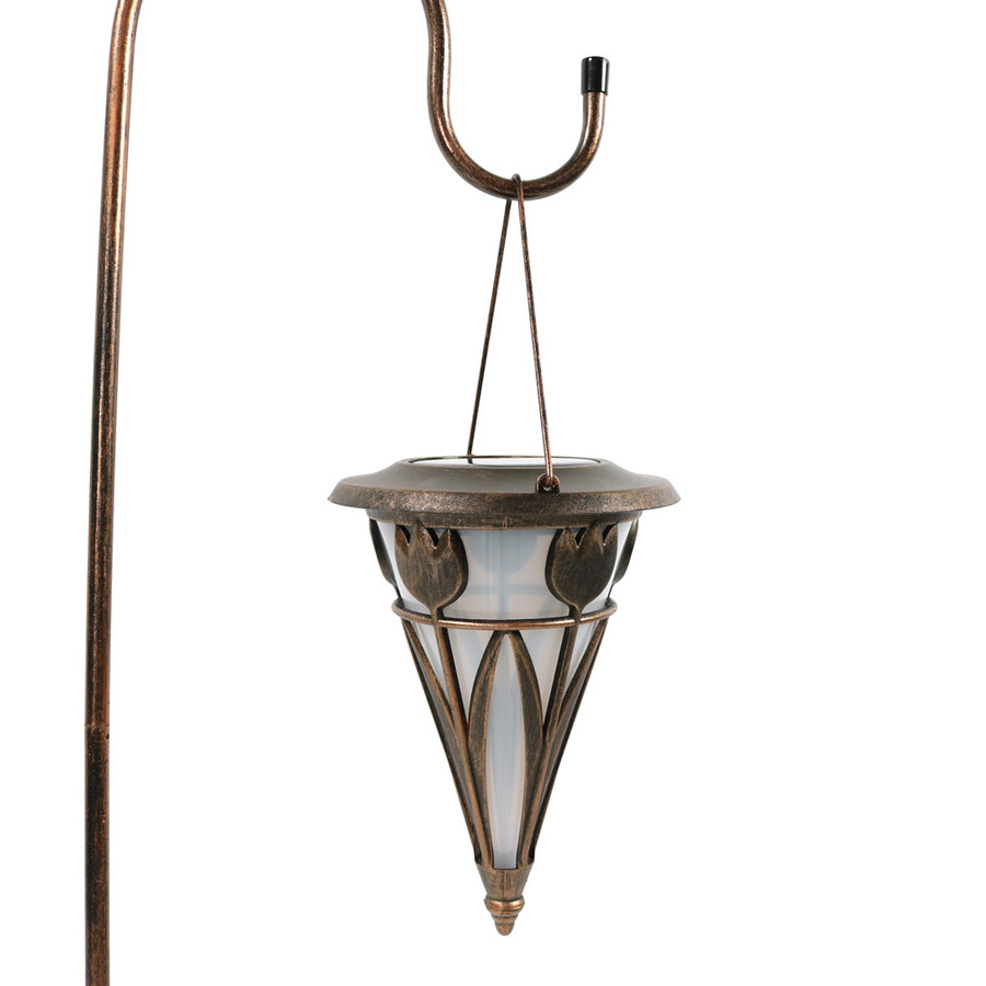 Sunnydaze Decorative Cone Outdoor Hanging Solar Light With Shepherd Hook - Set of Two