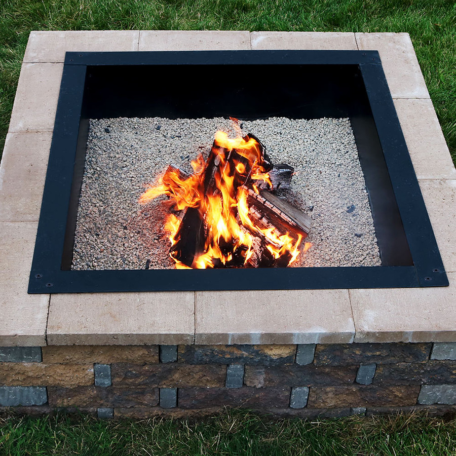 Square Heavy-Duty Fire Pit Rim/Liner