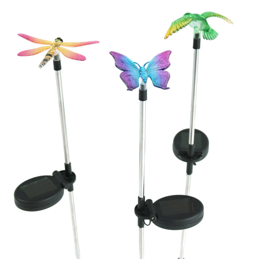 Solar Butterfly, Dragonfly, Hummingbird Stake LED Lights