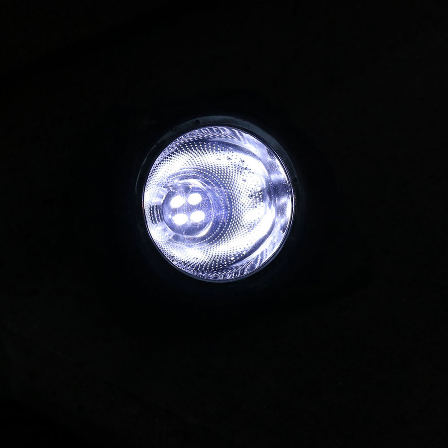 Rock With White Solar LED Light Nighttime View