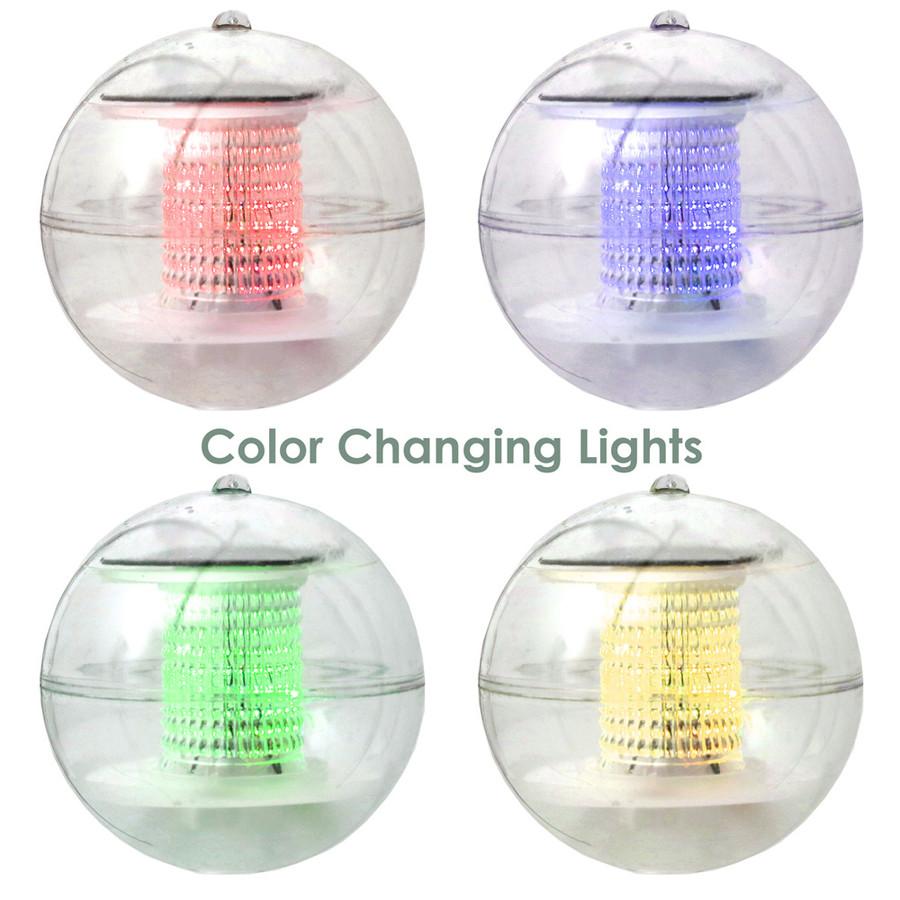 Solar LED Light Floating Ball - Set of 4