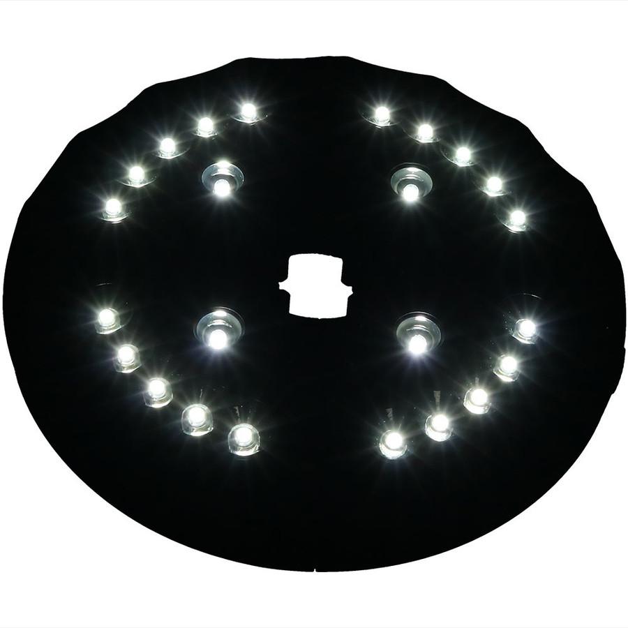 Sunnydaze 4 Panel Patio Umbrella Light, 24 LEDs