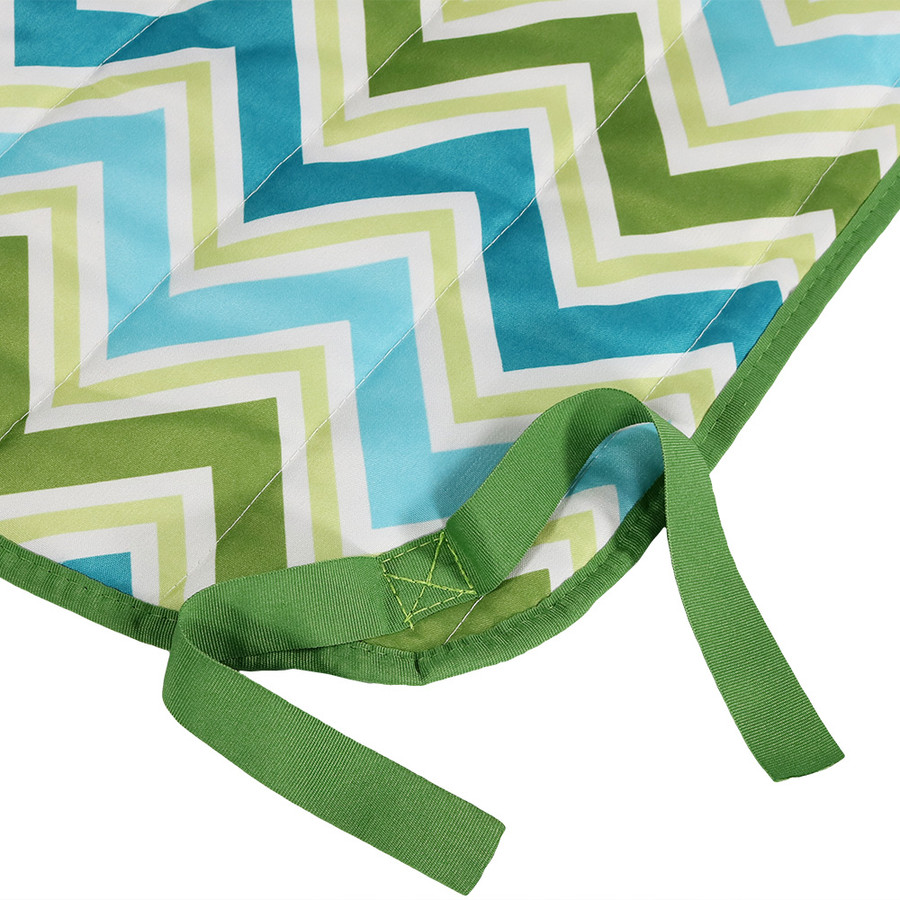 Blue & Green Chevron - Side Ties
